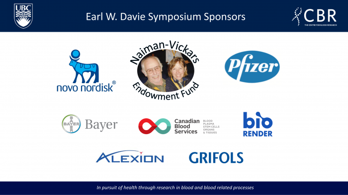 Sponsors of the Earl W. Davie 2020 Symposium