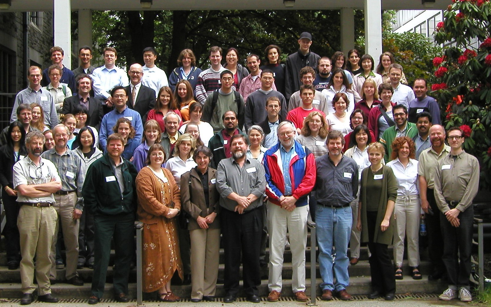 A photo of the CBRs members in 2002