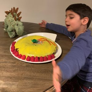 Chocolate cake with saffron icing by Narges Hadjesfandiari