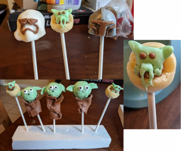 Star Wars cake pops by Eleonore Rayner